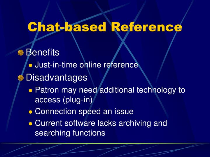 Chat-based Reference