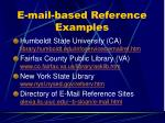 e mail based reference examples