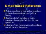 e mail based reference