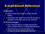 e mail based reference1