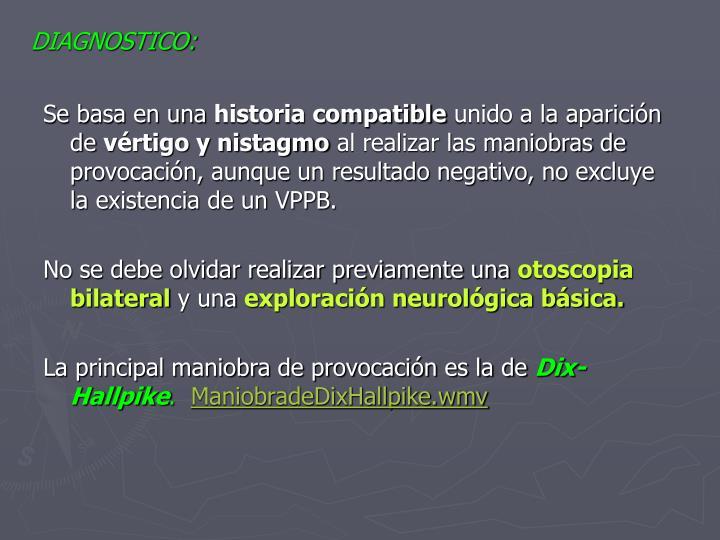 DIAGNOSTICO: