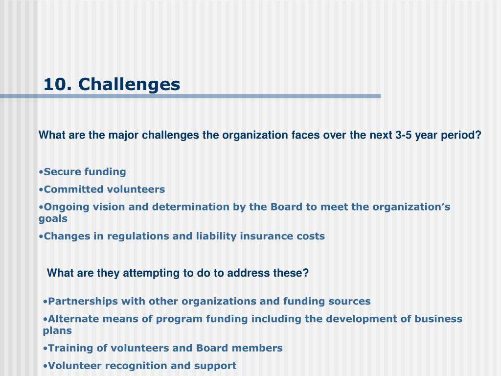 10. Challenges