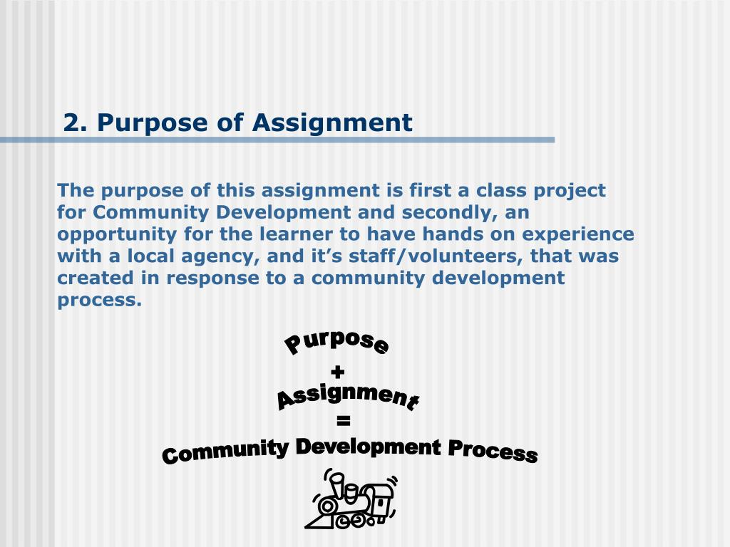 2. Purpose of Assignment
