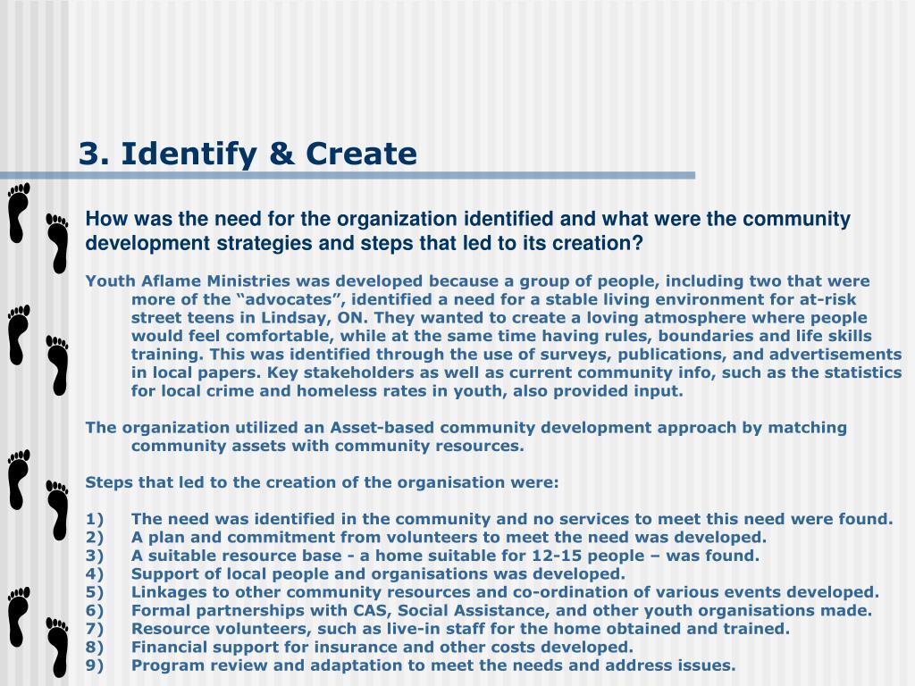 3. Identify & Create