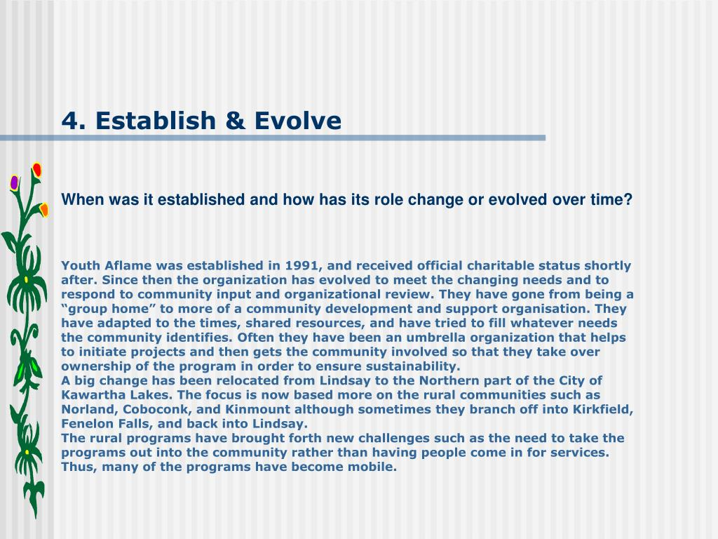 4. Establish & Evolve