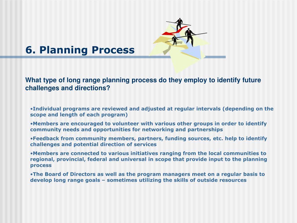6. Planning Process