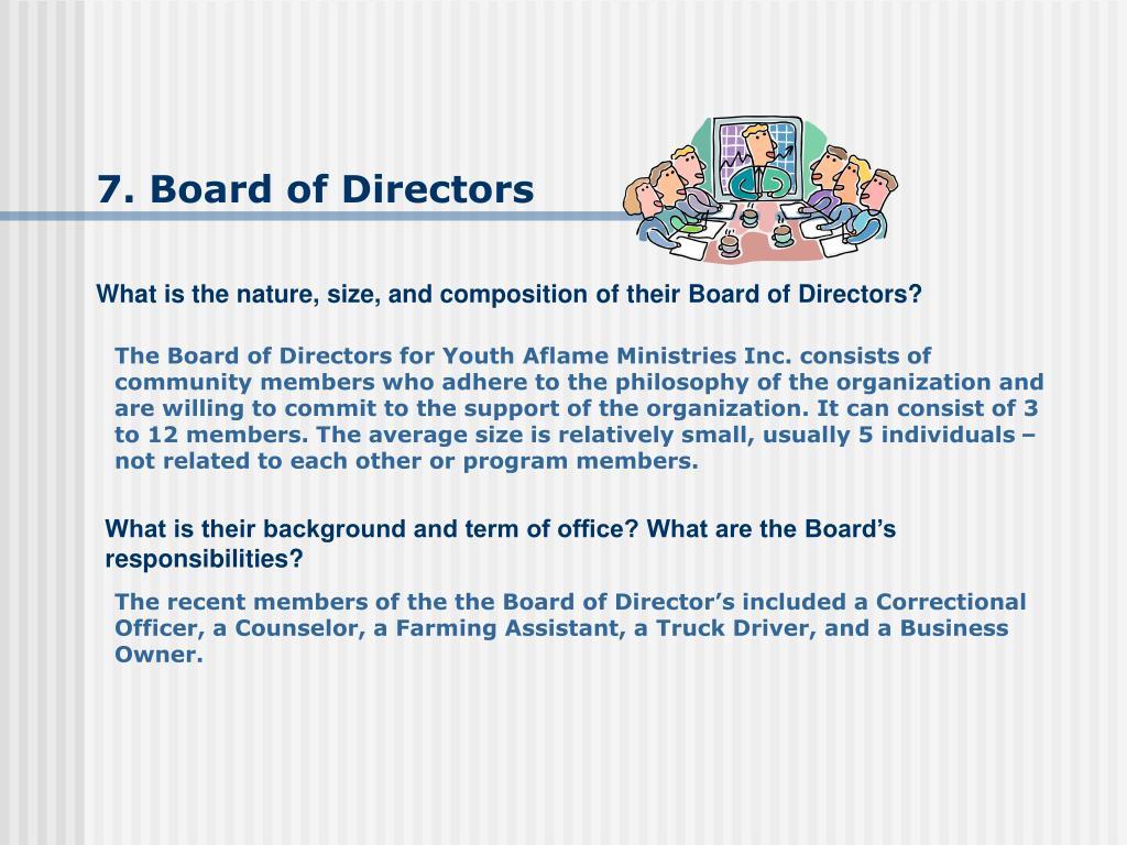 7. Board of Directors
