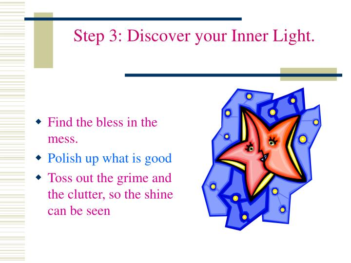 Step 3: Discover your Inner Light.