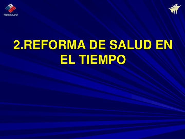 2.REFORMA DE SALUD EN EL TIEMPO