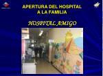 apertura del hospital a la familia