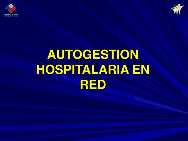 AUTOGESTION HOSPITALARIA EN RED