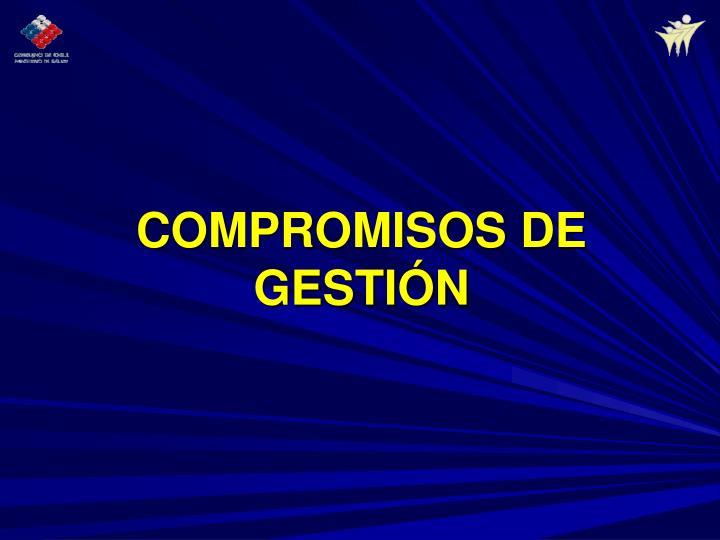 COMPROMISOS DE GESTIÓN