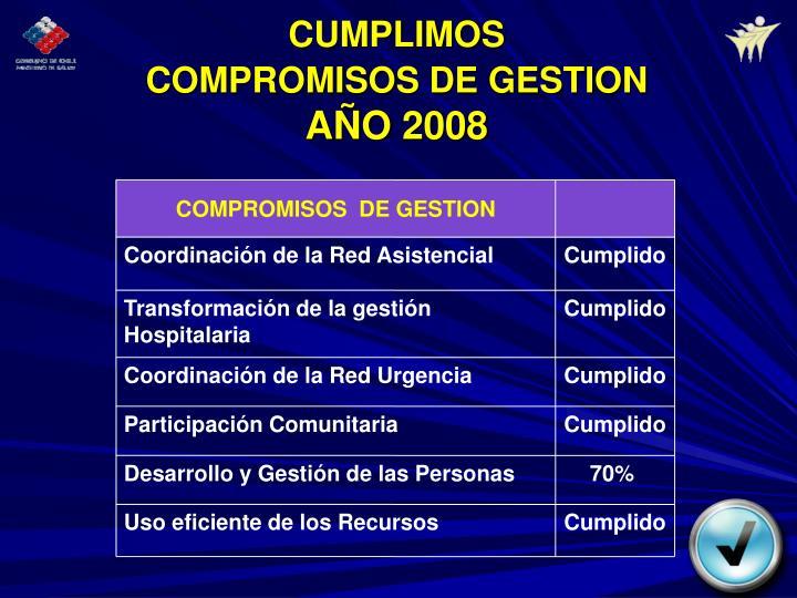 CUMPLIMOS