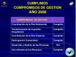 cumplimos compromisos de gestion a o 2008