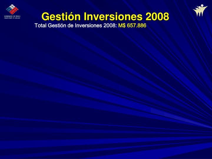 Gestión Inversiones 2008