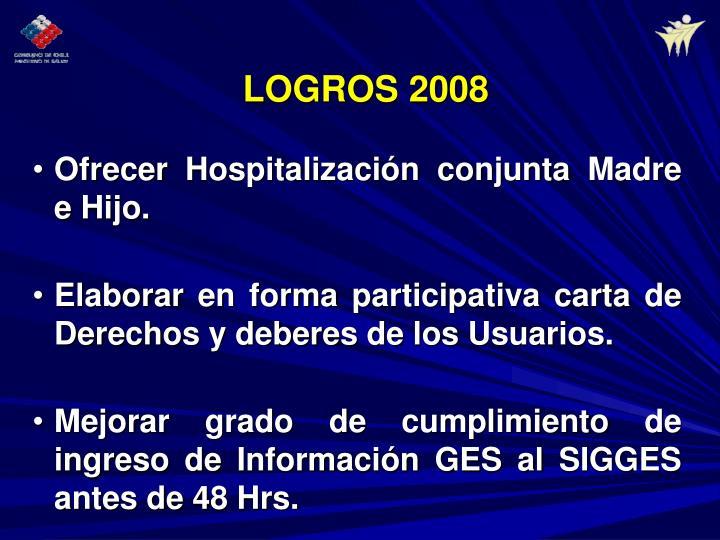LOGROS 2008