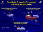 resultado encuesta percepci n usuarios ambulatorios