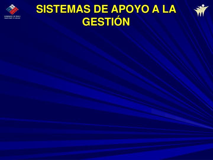 SISTEMAS DE APOYO A LA GESTIÓN