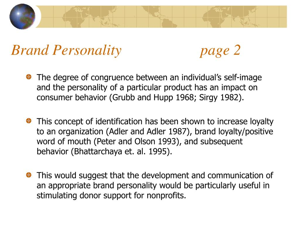 Brand Personality                     page 2