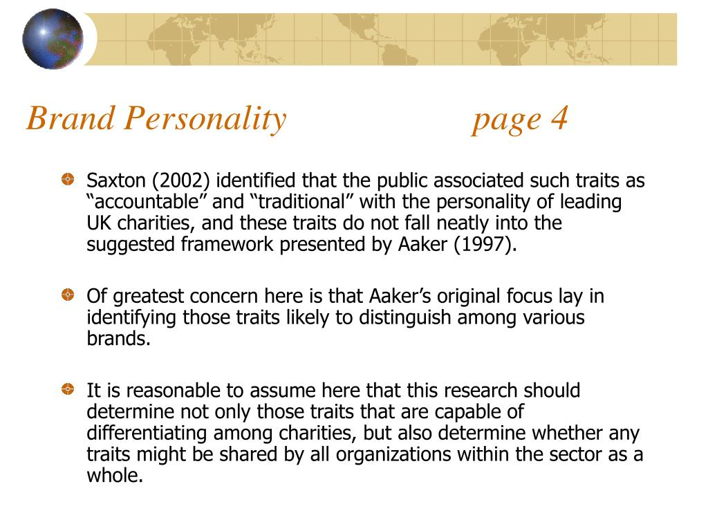 Brand Personality                     page 4