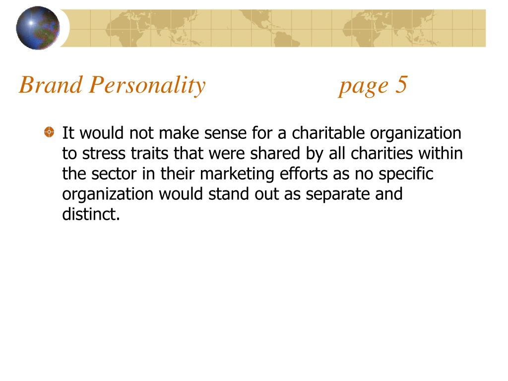 Brand Personality                     page 5