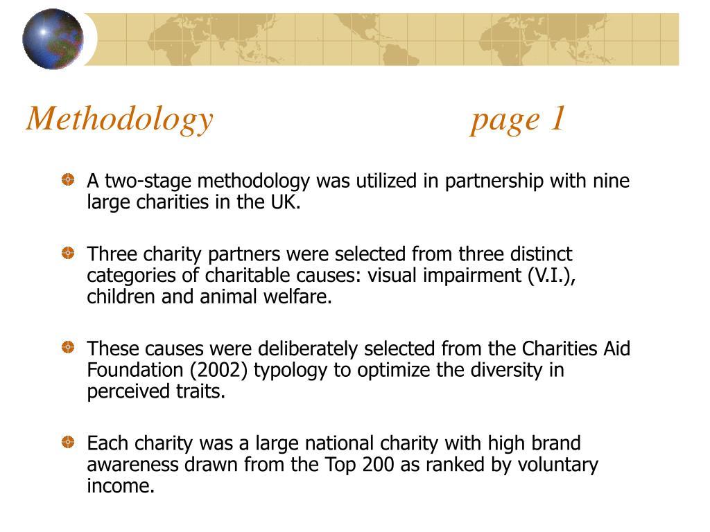 Methodology                             page 1