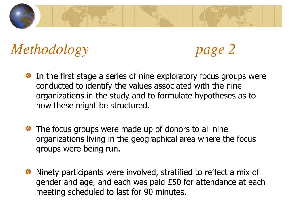 Methodology                             page 2