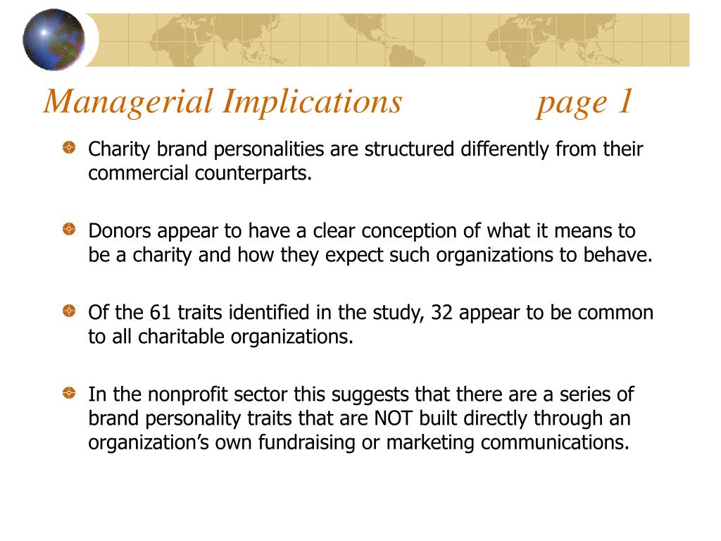 Managerial Implications               page 1