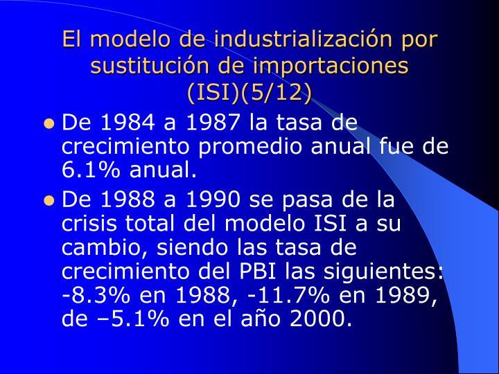 El modelo de industrialización por sustitución de importaciones