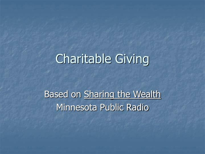 Charitable giving