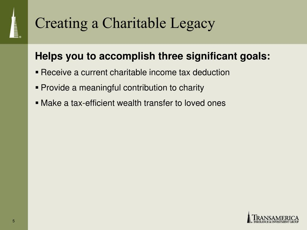 Creating a Charitable Legacy
