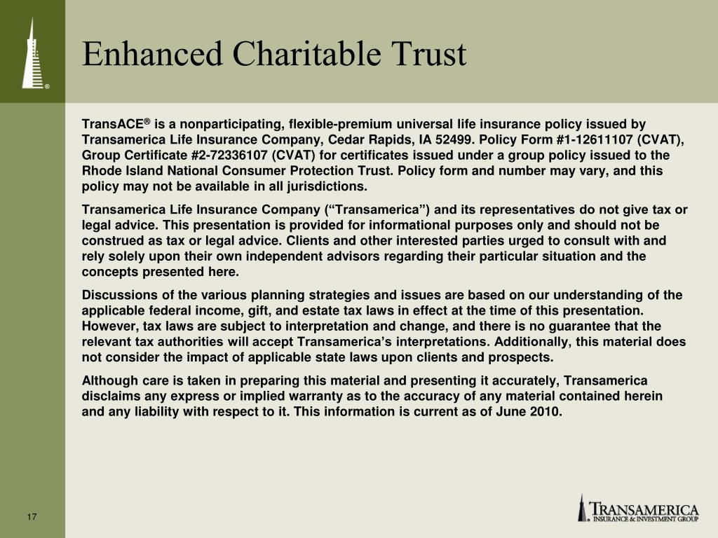 Enhanced Charitable Trust