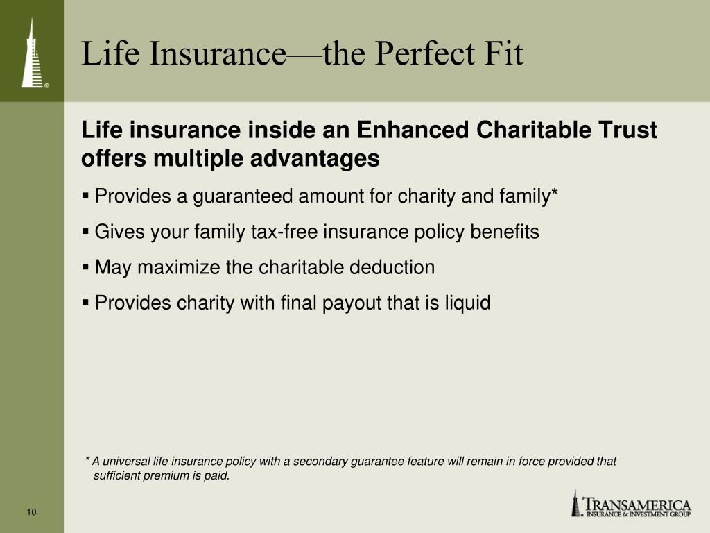 Life Insurance—the Perfect Fit