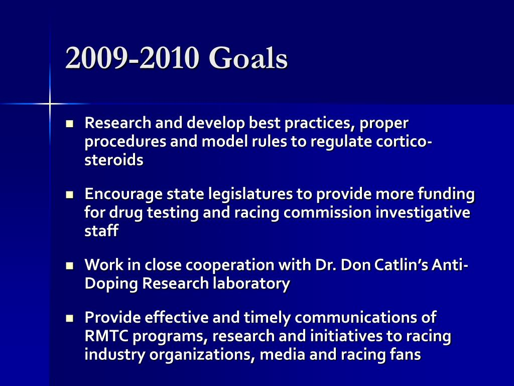 2009-2010 Goals