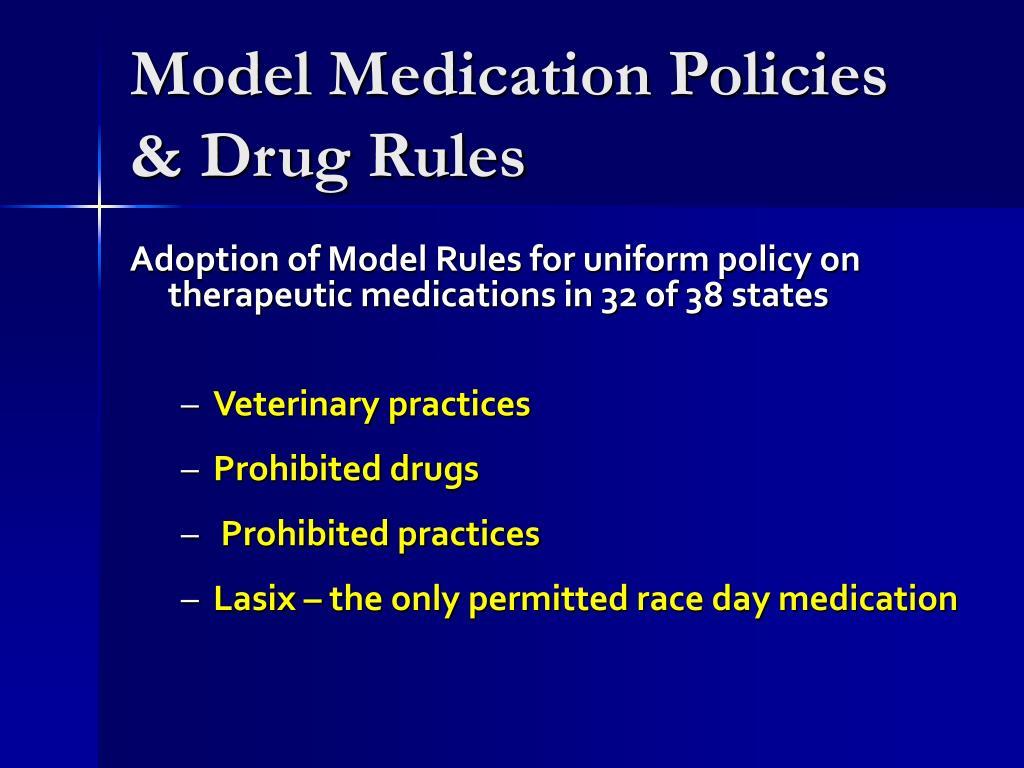 Model Medication Policies