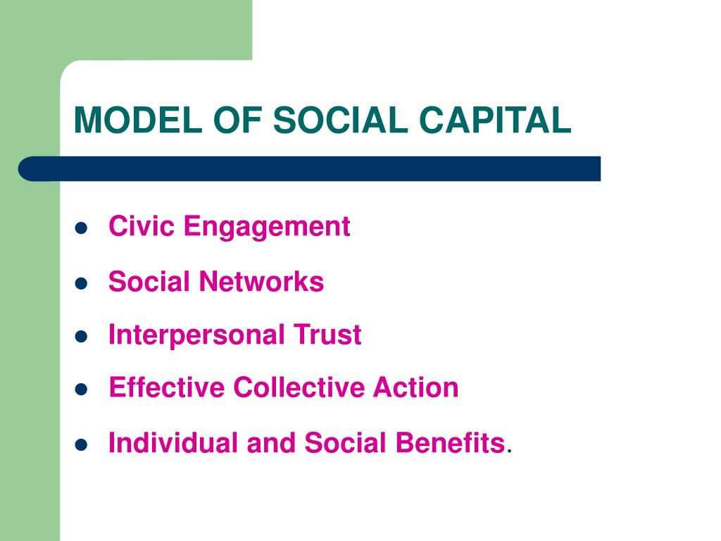 MODEL OF SOCIAL CAPITAL