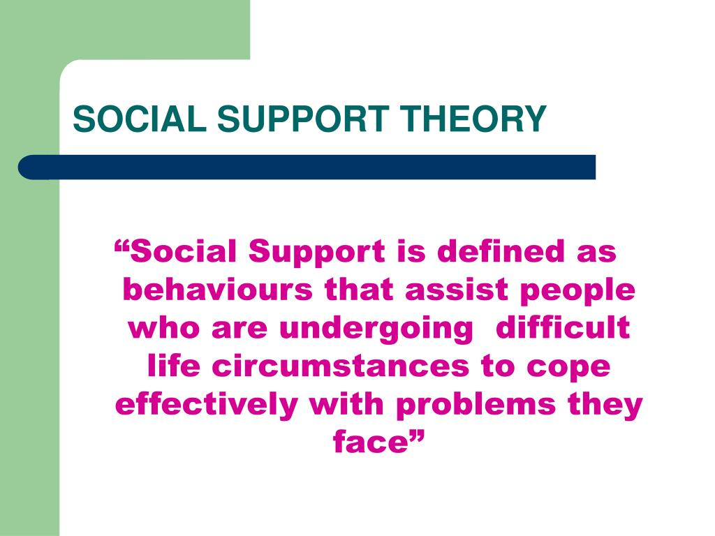 SOCIAL SUPPORT THEORY