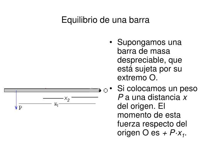 Equilibrio de una barra