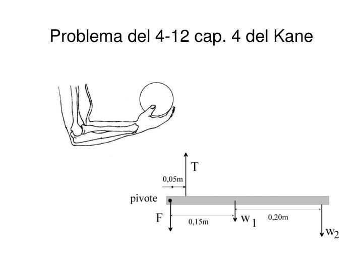 Problema del 4-12 cap. 4 del Kane