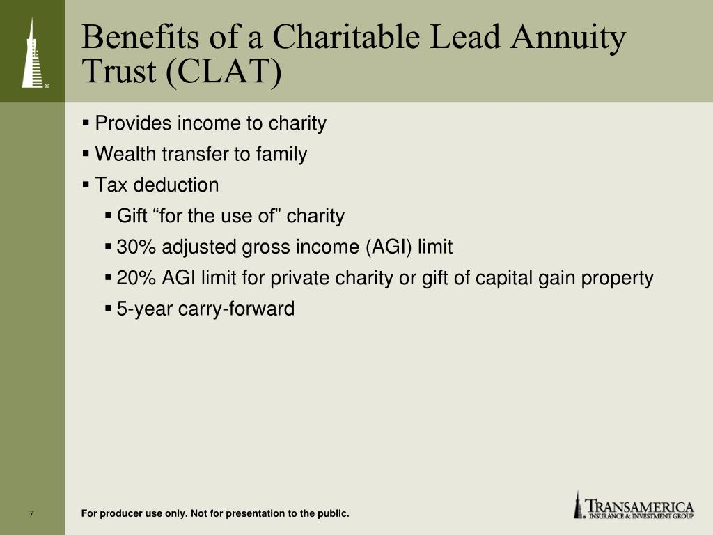 Benefits of a Charitable Lead Annuity Trust (CLAT)