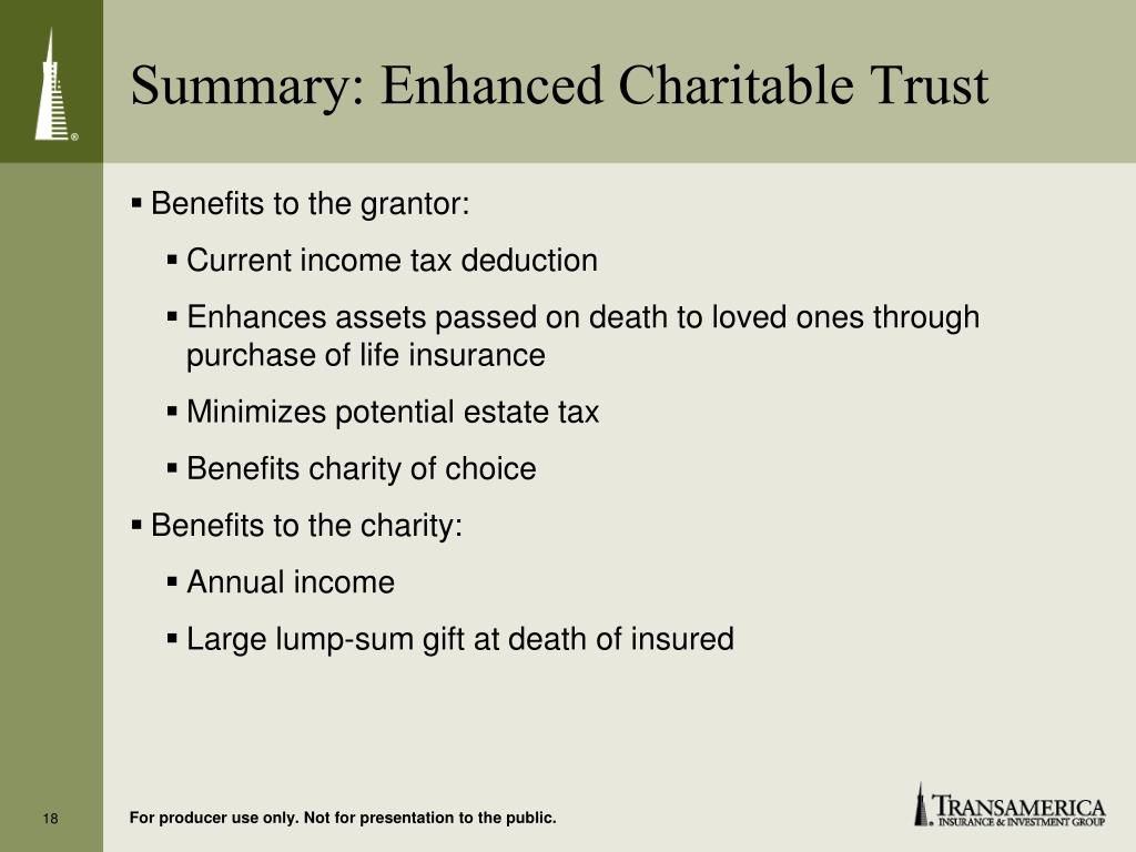 Summary: Enhanced Charitable Trust