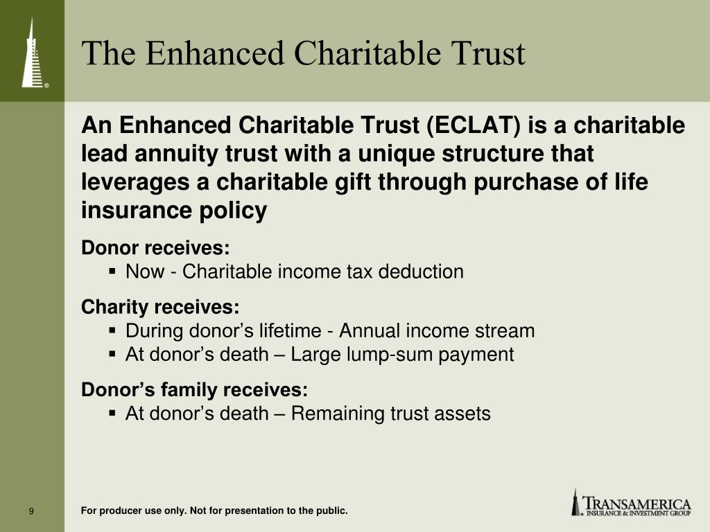 The Enhanced Charitable Trust