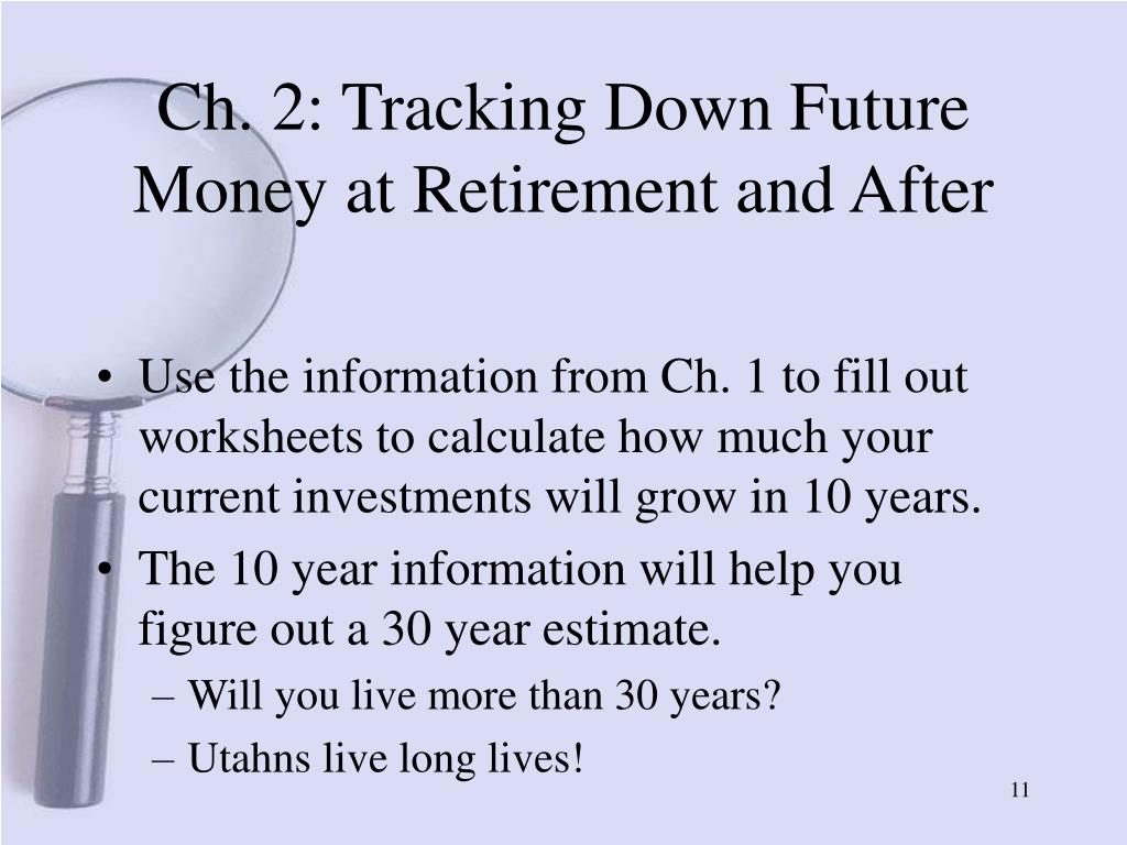Ch. 2: Tracking Down Future Money at Retirement and After