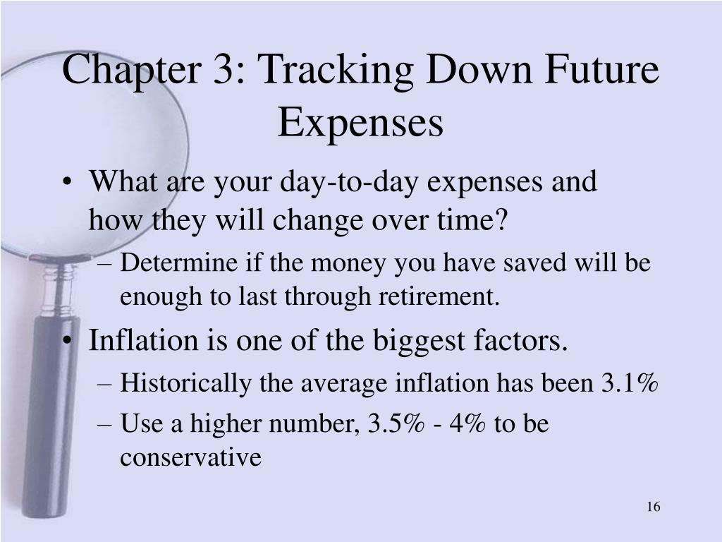 Chapter 3: Tracking Down Future Expenses
