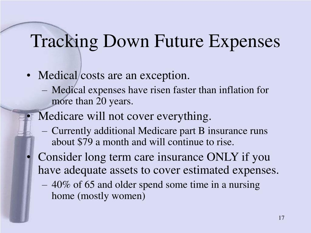 Tracking Down Future Expenses