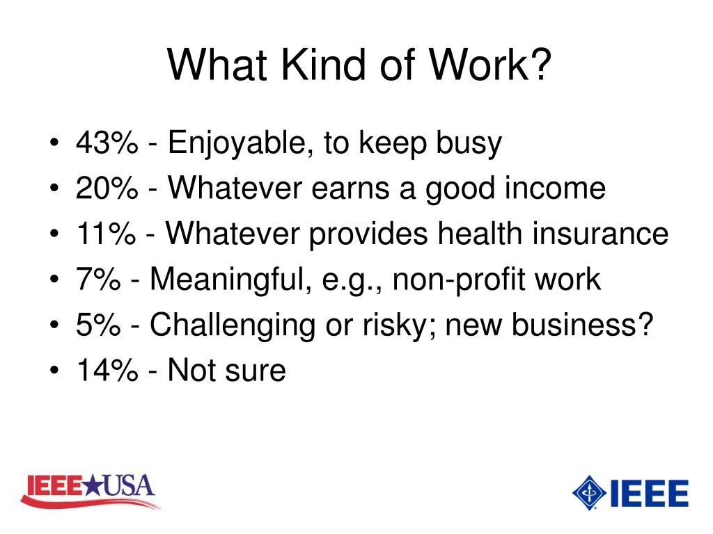 What Kind of Work?