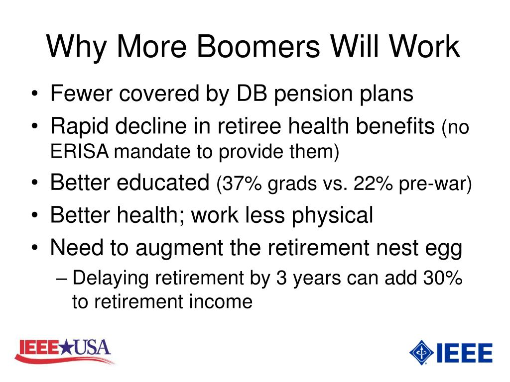 Why More Boomers Will Work