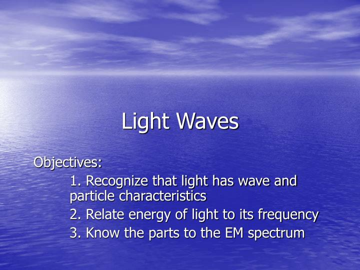 Light waves