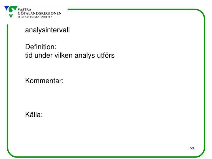 analysintervall