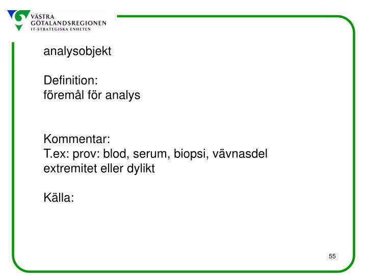 analysobjekt